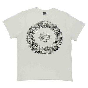 ムーミンTシャツ リーフ ホワイトM - 拡大画像