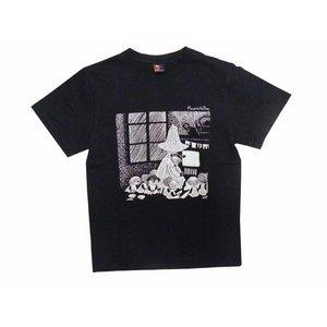 ムーミンTシャツ スナフキン ブラックM - 拡大画像