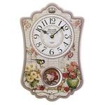 振り子時計【2個セット】  ピンク