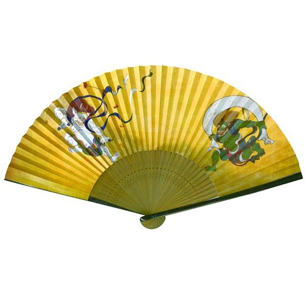 【京扇子】紳士用扇子75型35間【5本セット】風神雷神f00