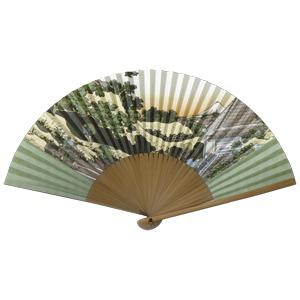 紳士用扇子75型35間【5本セット】富嶽三十六景草