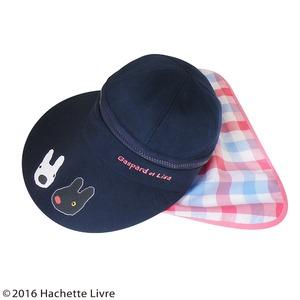 【保育士さん】リサとガスパール 3WAYつば広帽子 ピンクチェック h03