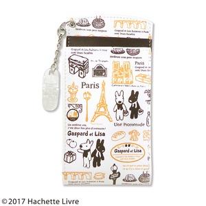 リサとガスパール胸ポケット用ペンケース PARISブラウン【2個セット】 - 拡大画像