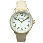 便利な日付付き 腕時計【2本セット】【ベージュ】U04013 A-1