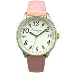 便利な日付付き 腕時計【2本セット】【ピンク・ネイビー】U04013 A-1