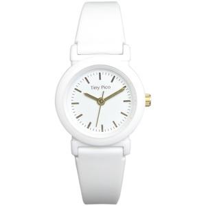 レディース 超軽量ラバー腕時計【2本セット】【ホワイト/ホワイト】
