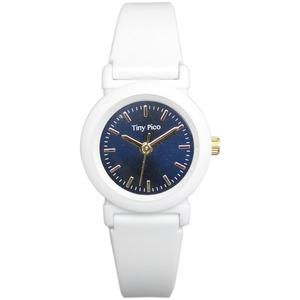 レディース 超軽量ラバー腕時計【2本セット】【ホワイト/ネイビー】