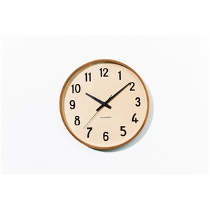 CHAMBRE PLYWOOD CLOCK【CAFE BROWN】