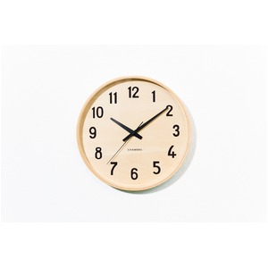 CHAMBRE PLYWOOD CLOCK【NATURAL】
