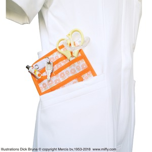 ミッフィーポケットオーガナイザー 【フラワーオレンジ】【2個セット】