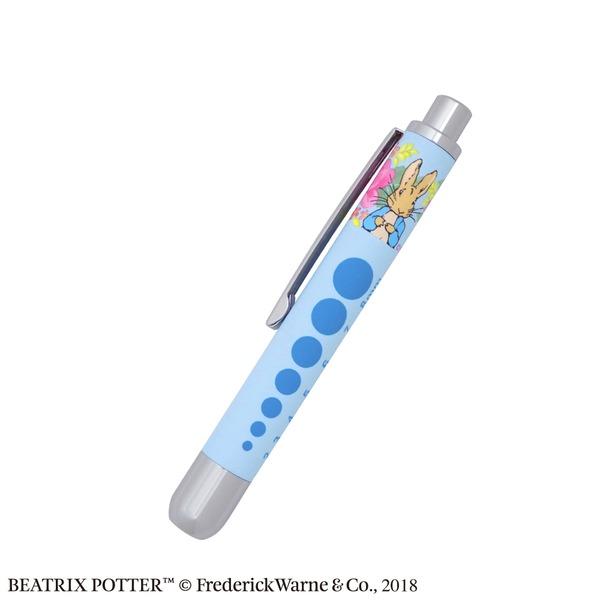 ピーターラビット ソフトLEDミニペンライトラバー【Glorious gardenブルー】【2本セット】