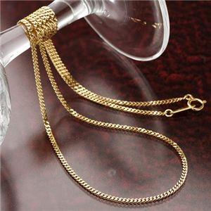 《国産・18金》 K18 二面喜平ネックレス 50cm 5グラム (ゴールドネックレス) - 拡大画像