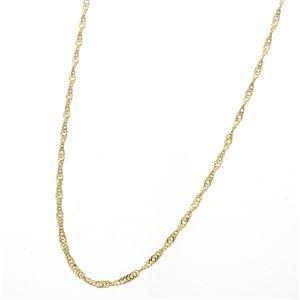 《国産・24金》 K24 純金スクリューネックレス 42cm - 拡大画像