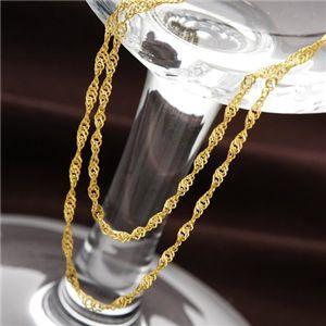 《国産・24金》 K24 純金スクリューネックレス 42cm h02