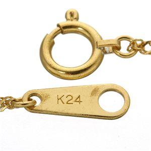《国産・24金》 K24 純金スクリューネックレス 42cm h03
