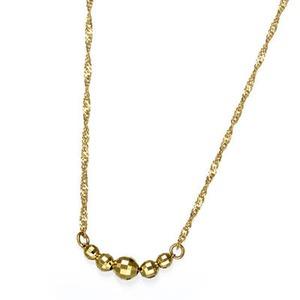 純金ファイブミラーボールネックレス h01