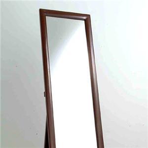 鏡面仕上げ木製スタンドミラー ホワイト