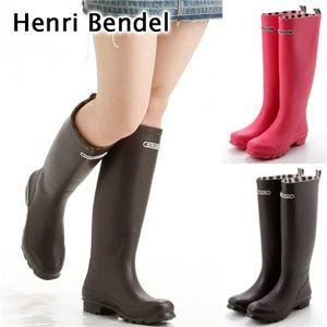 Henri Bendel(ヘンリ・ベンデル) ラバーブーツ Raspberry 7