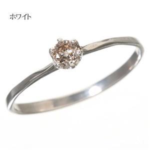 0.1ctダイヤリング 指輪 セレブリング 1910/ホワイト 11号 - 拡大画像