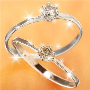 0.1ctダイヤリング 指輪 セレブリング 1910/ホワイト 11号 h02