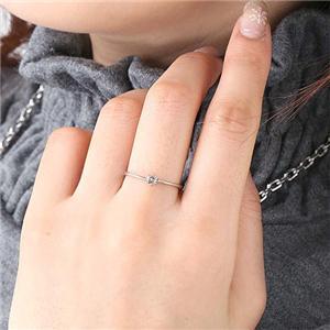 0.1ctダイヤリング 指輪 セレブリング 1910/ホワイト 11号 h03