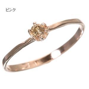 0.1ctダイヤリング 指輪 セレブリング 1910/ピンク 7号 - 拡大画像