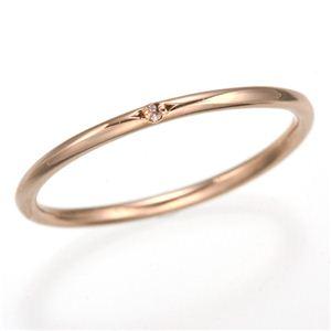 天然ピンクダイヤリング 指輪 【ピンク】13号 - 拡大画像