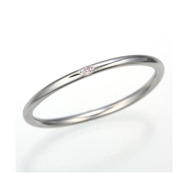 天然ピンクダイヤリング 指輪 【ホワイト】7号f00