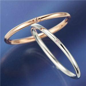 天然ピンクダイヤリング 指輪 【ホワイト】7号 h02