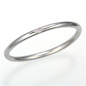 天然ピンクダイヤリング 指輪 【ホワイト】9号 - 拡大画像