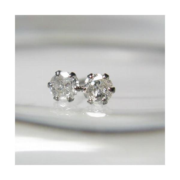 プラチナ ダイヤモンドピアス0.1ctf00