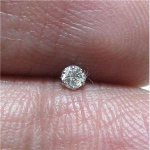 プラチナ ダイヤモンドピアス0.1ct h02
