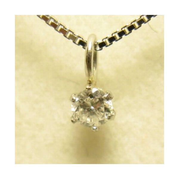 プラチナ Iクラスダイヤモンドペンダント/ネックレス0.05ct (プラチナチェーン)f00