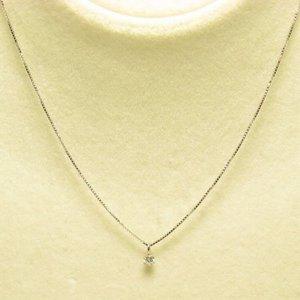 プラチナ Iクラスダイヤモンドペンダント/ネックレス0.05ct (プラチナチェーン) h02
