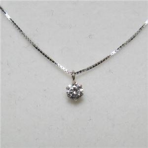 プラチナ Iクラスダイヤモンドペンダント/ネックレス0.1ct (K10WGチェーン) - 拡大画像