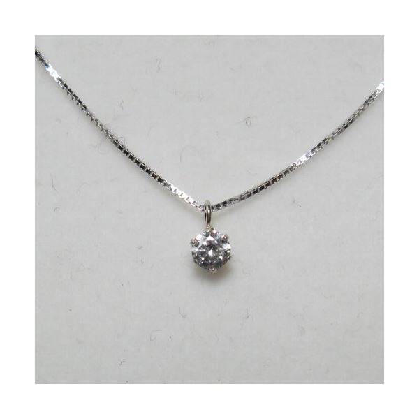 プラチナ Iクラスダイヤモンドペンダント/ネックレス0.1ct (プラチナチェーン)f00