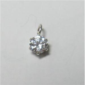 プラチナ Iクラスダイヤモンドペンダント/ネックレス0.1ct (プラチナチェーン) h02