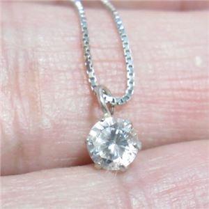 プラチナ Iクラスダイヤモンドペンダント/ネックレス0.1ct (プラチナチェーン) h03