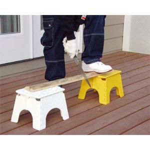折りたたみ 踏み台 【タートルスツール イエロー 2台セット】頑丈 軽量 折り畳み ステップ