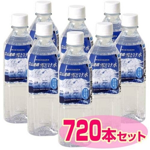 ミネラルウォーター 立山連峰雪どけ水 500ml 【720本セット(30ケース)】≪硬度が高めの軟水≫
