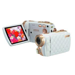 3.0型 TFTカラー液晶モニタ搭載 HD画質 デジタルビデオカメラ GHV-DV30HDLX ホワイト - 拡大画像