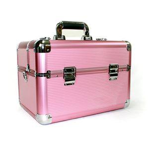 アルミコスメケース ピンク