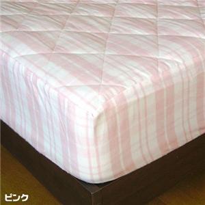 綿フラノ敷きパット一体型ボックスシーツ ピンク(シングル)