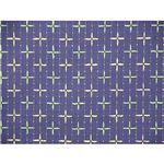 先染め刺子織こたつ布団カバー汚れを防ぐサロン2枚付き  ブルー 200×250