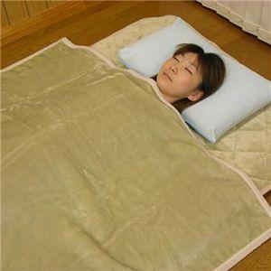 吸湿発熱掛け毛布(洗濯可) 約140×200cm ベージュS - 拡大画像