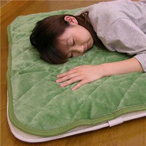 吸湿発熱敷きパット(洗濯可) 約100×205cm グリーンS - 拡大画像