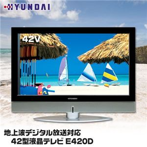 HYUNDAI 地上波デジタル放送対応 42型液晶テレビ E420D - 拡大画像
