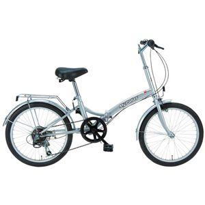 MYPALLAS(マイパラス) 折畳自転車20型6段 M-30S シルバー - 拡大画像