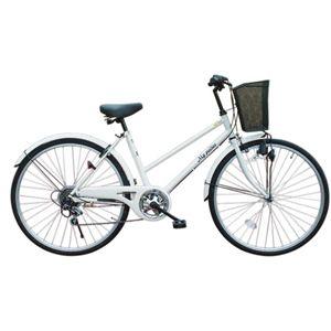 MYPALLAS(マイパラス) 自転車 M-501W 26インチ 6段変速 ホワイト (シティサイクル) - 拡大画像