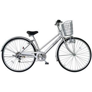 MYPALLAS(マイパラス) 自転車 M-571 27インチ 6段変速 シルバー (シティサイクル) - 拡大画像